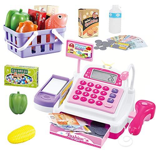 Sotodik-Soniki レジスターおもちゃ お買い物レジスター お会計 女の子 ピンク 大幅にプライスダウン 秀逸