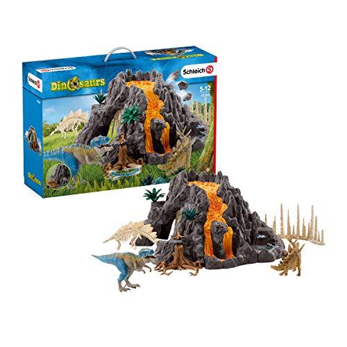 シュライヒ 限定品 恐竜 初売り 大火山とティラノサウルス恐竜ビッグセット フィギュア 42305