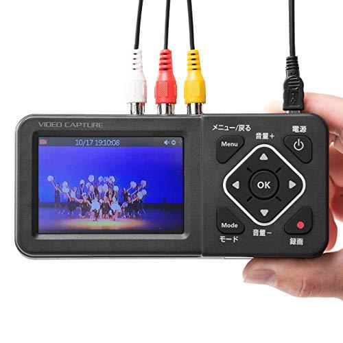サンワダイレクト ビデオキャプチャー デジタル保存 秀逸 PC不要 USB SD 保存 日本 モニター付き 400-MEDI029 HDD HDMIでテレビ出力