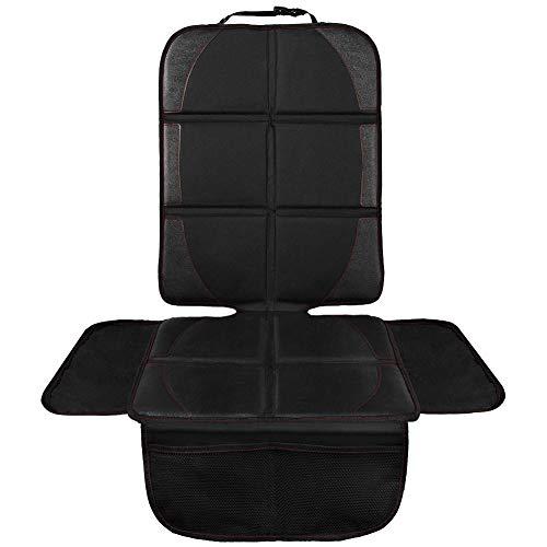 NWOUIIAY チャイルドシートマット シートカバー 防水 シートプロテクター 品質検査済 取り付け簡単 収納ポケット付き 低価格化 保護マット 滑り止め 車座席保護