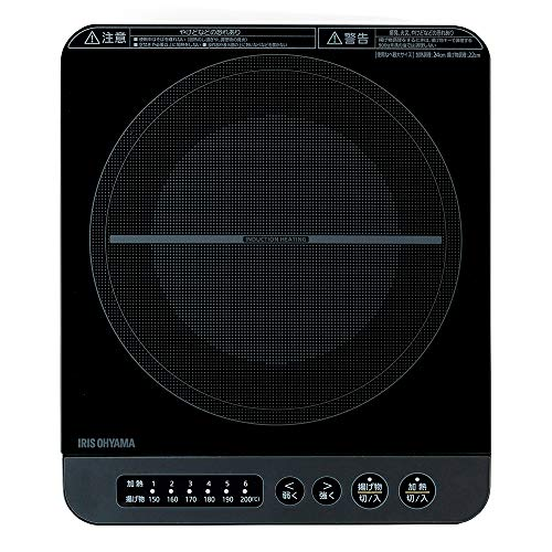 アイリスオーヤマ IHコンロ 1400W 卓上 売却 デザイン IHK-T37-B 高品質 ブラック