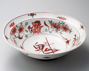 赤絵 魁 31cm深鉢 日本製 盛り付けのうつわお惣菜の盛り合わせ 炊きもの 煮物 おばんざいの盛り付けに大振りの大皿 大鉢 盛り皿 深皿 煮物鉢