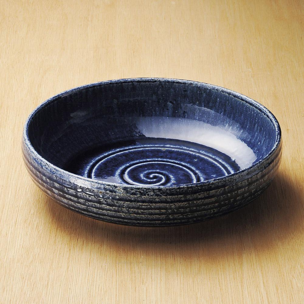 33cm 紺碧 尺大鉢 32.5cm×8.5cm 日本製 お惣菜の盛り合わせ 炊きもの 煮物 おばんざいの盛り付けに大振りの深鉢 大サイズ深皿大皿 大鉢 盛り皿 深皿 煮物鉢 業務価格で