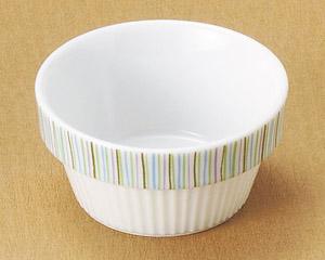スタックミニ小鉢 が2色柄・・・・・グリーンストライプ・オレンジモザイク