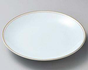 渕赤金線 45cm 15号 青白磁大皿日本製 有田焼 さしみ ふぐ刺し お惣菜の盛り合わせ パーティー 宴会 おもてなしの盛り付けに大振りの特別な和皿 超特大サイズ