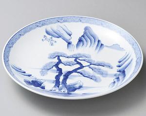 二本松山水 15号 46cm 大皿日本製 さしみ ふぐ刺し お惣菜の盛り合わせ パーティー 宴会 おもてなしの盛り付けに大振りの特別な深皿 特特大サイズ