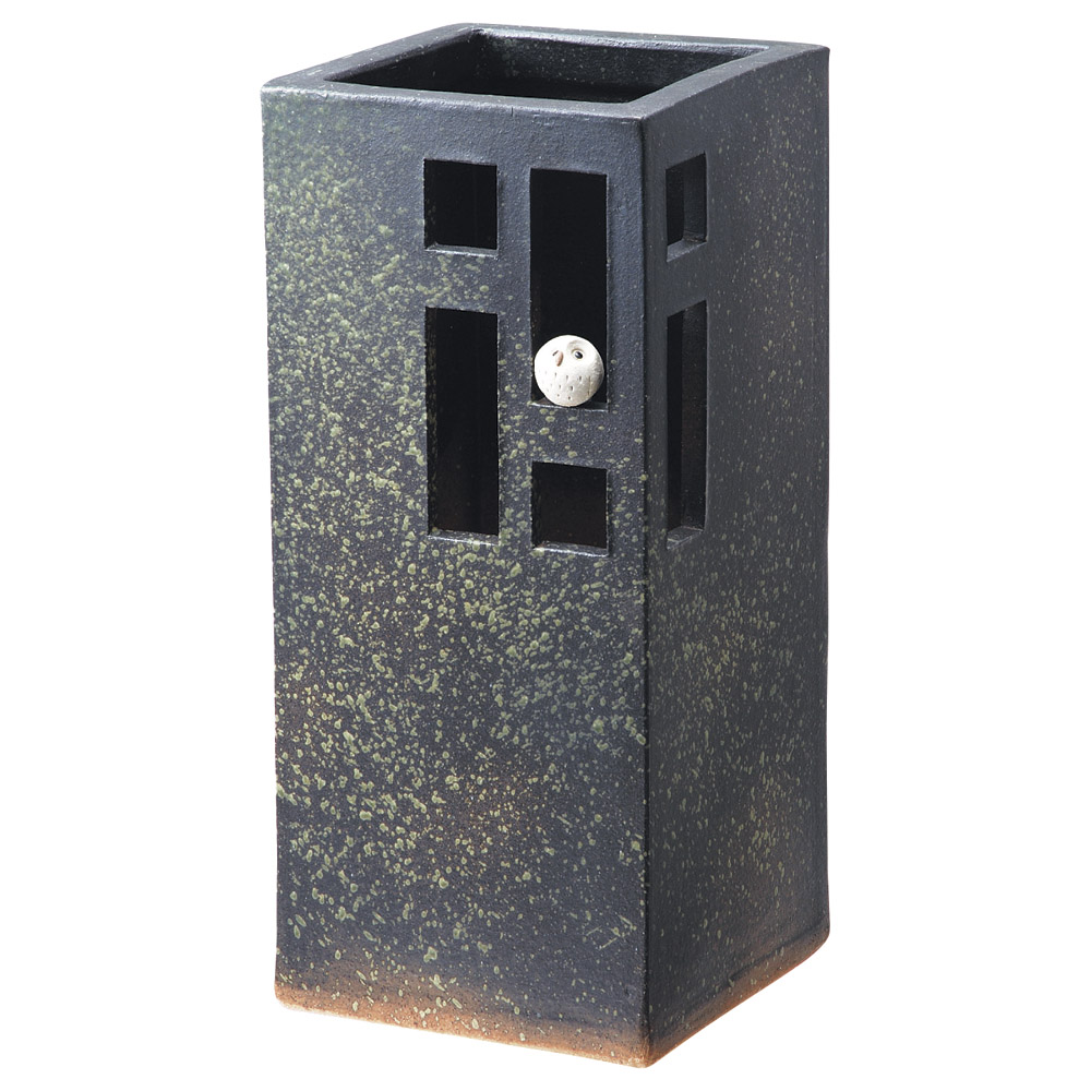 ふくろう 45cm角傘立て 20.5x21.5x45.5cm 信楽焼 アート陶製インテリア