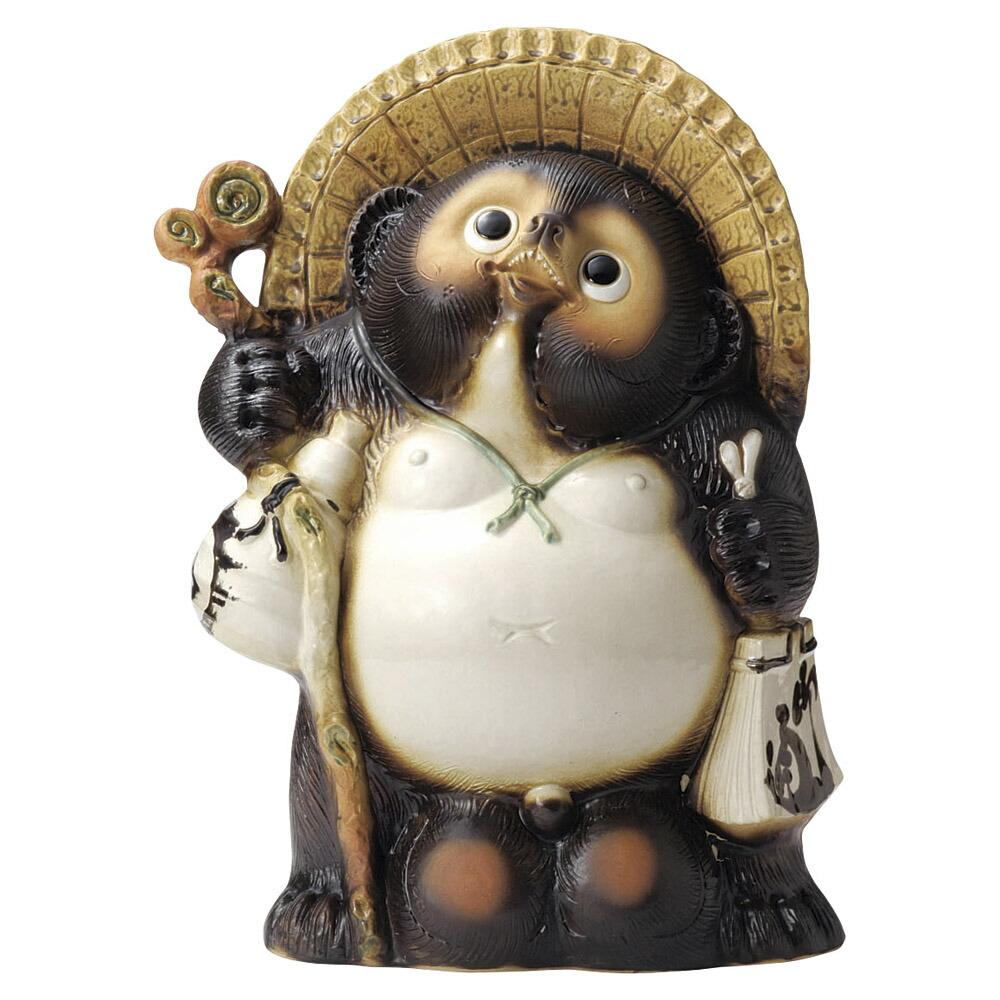 信楽 たぬき 20号 48x30x65cm 信楽焼 しがらき狸の置物 アート陶製インテリア