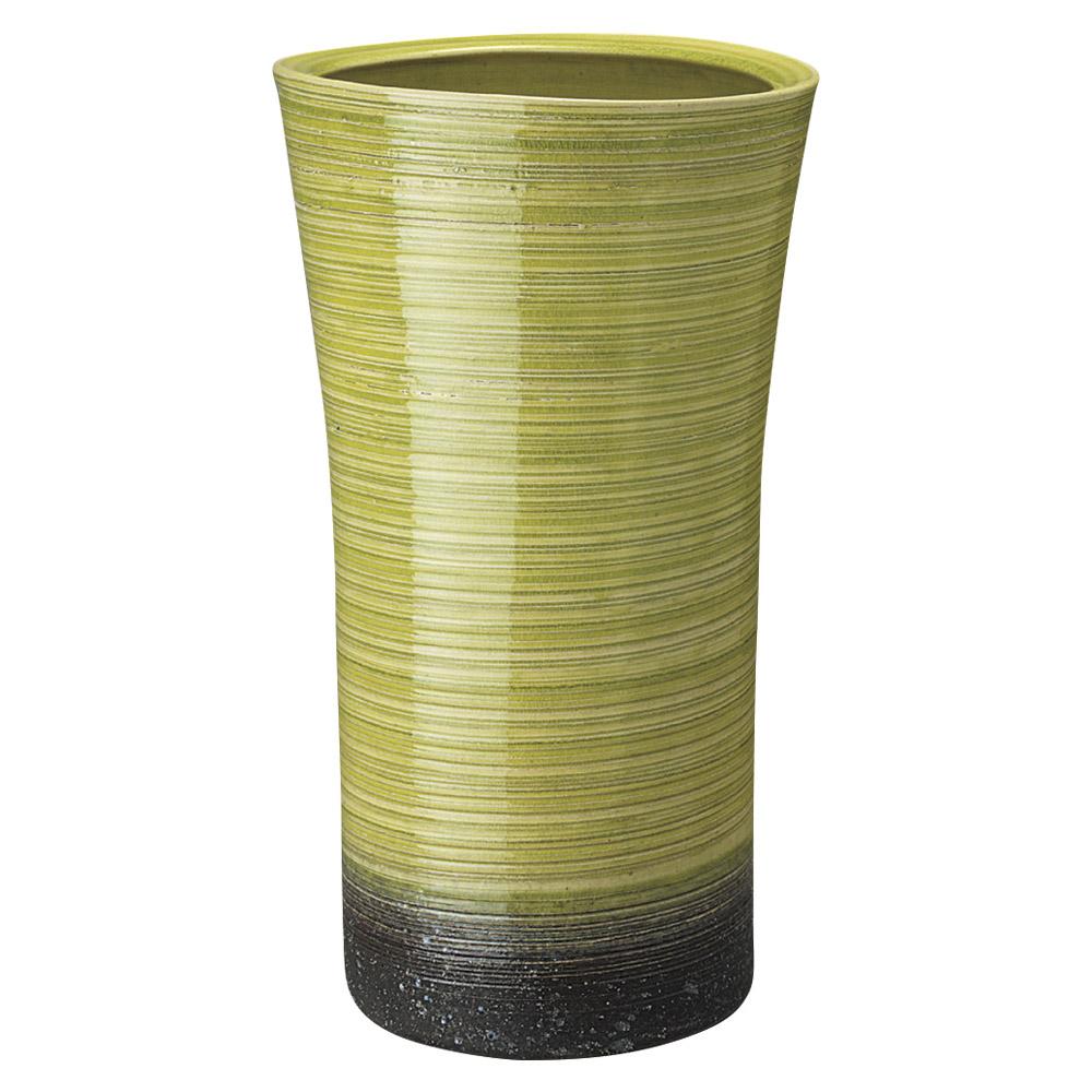 MOE 46cm 傘立て 花生け 花器 27.5x24x46.5cm 信楽焼 アートフラワー 陶製インテリア 美しい萌黄色の釉薬