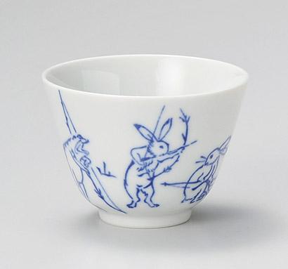 2020新作 茶器 茶道具 ティーアイテムが 問屋価格で 高山寺 AL完売しました。 鳥獣戯画 煎茶碗 緑茶 ほうじ茶 160cc 煎茶 日本製の逸品 8.7x6.3cm