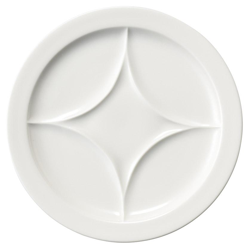 完売 ホテル レストラン バール 食器が 問屋価格で NR パーテーションプレート 白 内径19cm ワンプレートディッシュ 23x2.3cm 安心の定価販売 盛り合わせのお皿 ビュッフェ バイキングの取り皿に 仕切りランチプレート 4色展開