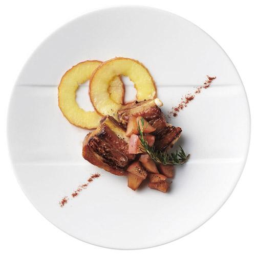 ホテル レストラン 買物 バール 食器が 問屋価格で フレンチ 特白磁 28cm Seasonal Wrap入荷 日本製 フリッタ ローゼ皿