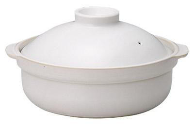 白 8号 2600cc IHパーティー土鍋美濃焼付属の発熱プレート使用でIHコンロ対応
