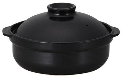 【カフェ食器  居酒屋食器が 問屋価格で 】 黒 10号 4500cc ヘルシー 土鍋 (直火用)日本製 美濃焼