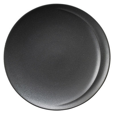 黒 アルコ 27cm 丸ディナー皿日本製美濃焼洗練のデザイン 和モダンテイストのシックなカラーリングメイン・オードブル・前菜盛り合わせ・コース・パーティー・ワンプレートディッシュに