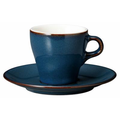 【ホテル  レストラン  バール 食器が 問屋価格で 】 美しい対流イラーレ ブルー 90cc エスプレッソ カップソーサーカフェ トラットリア向きの業務用食器日本製 カップ口径6.5cm 皿径12.8cm