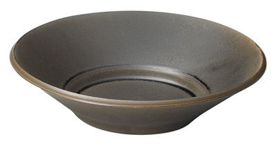 スパダ 21cm パスタボウル・・・ラバブラウン(灰茶)日本製美濃焼厚口の業務用カフェ・ダイナー・タパス食器スパゲッティ・カレー・リゾット・シチュー・スープ