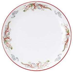 萬漢龍 31cm 宴会用 前菜 12インチ大皿 (白磁朱巻き) 中華食器