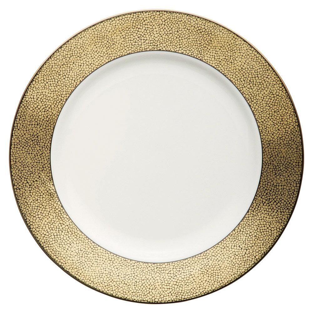 エクセラン 27cm ディナー & サービスプレート (乳白色のnew bone製)日本製 大人の贅沢 コース&アラカルト料理食器ゴージャス リッチなテーブルコーディネイトに