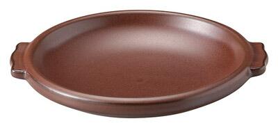 ホテル 輸入 レストラン ウェアーが 問屋価格で セピア 健康鍋 16cm 耳付ステーキ陶板 小 オーブン可 レンジ可和も洋も使える グラタン 日本製 耐熱陶器直火可 おすすめ チーズ焼 焼きカレー卓上でおしゃれに陶板焼き料理 18.3x16.7x2.6cm 陶製浅鍋焼き野菜