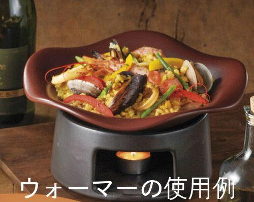 鉄赤 健康鍋 18cm リゾットパン & ヒートプレート 小日本製耐熱陶器直火可 オーブン可 レンジ可