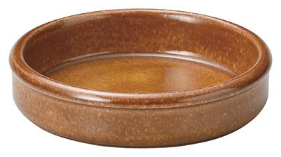 ホテル レストラン ウェアーが 即日出荷 問屋価格で アメ茶 丸型 14cm スペインバル タパス料理に直火可 日本製 フォンデュ 美濃焼耐熱陶器アヒージョ 毎日がバーゲンセール オーブン可