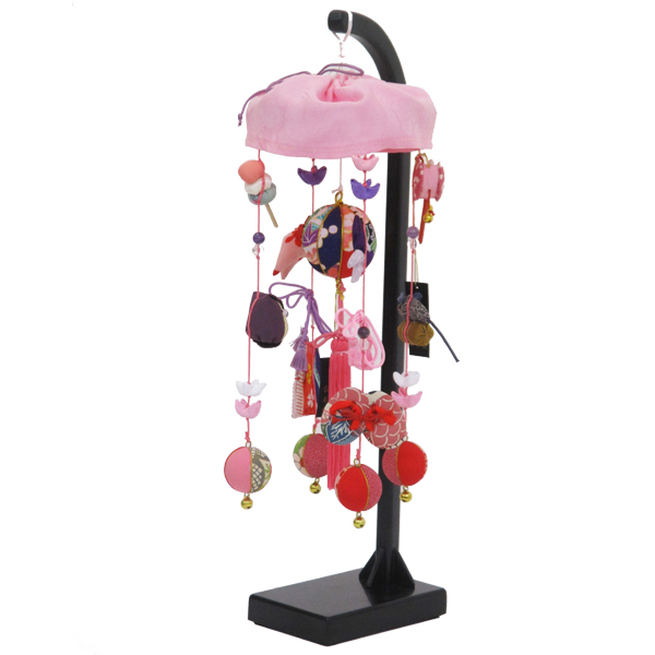 つるし飾り ひな祭り スタンド 雛 台 正絹 藤紫 S ピンク 雛人形 三月 お祝い 贈答品
