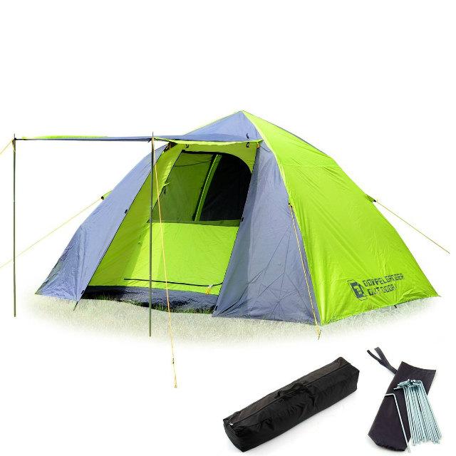DOD ワンタッチテント5人用 | T5-23 | 自立式ドーム型テント | タープになるフライシート付属 | 設営カンタン15秒