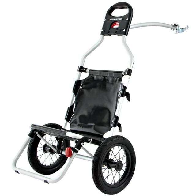 DOPPELGANGER モバイルサイクルトレーラー | DCR347-BK | 自転車用 | 大型車輪 | 4.8kg | 簡単脱着 | ドッペルギャンガー
