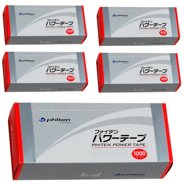 【5箱】 Phiten | パワーテープ | 1000マーク入 | 10シール×100シート×5個 | 炭化チタン採用 | 0108PT620000 | ファイテン