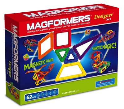 マグフォーマー MAGFORMERS  磁石を使った組み立て遊具 62ピース(三角形 四角形 五角形)レインボーセット 3歳から・お取寄