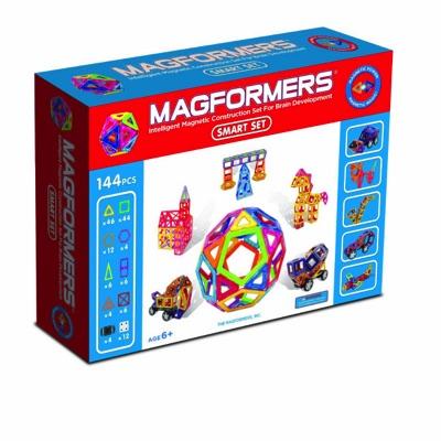 マグフォーマー MAGFORMERS  磁石を使った組み立て遊具 シリーズ最大の144ピース(八種類)スマートセット 6歳から・お取寄