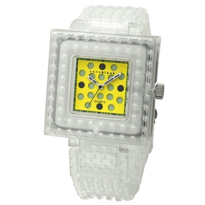 nanoblock ナノブロック Wristwatch 腕時計 Clear×Yellow クリアー イエロー・お取寄