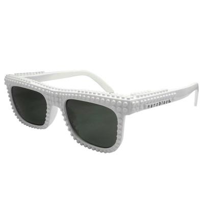 nanoblock ナノブロック Sunglasses NAF-2016WH デコれるメガネサングラス シロ 白 ホワイト・お取寄