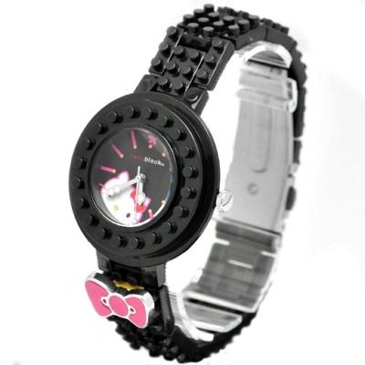 Nanoblock ナノブロック Hello Kitty Wristwatch ハローキティ デコれる腕時計 ブラック 黒・お取寄