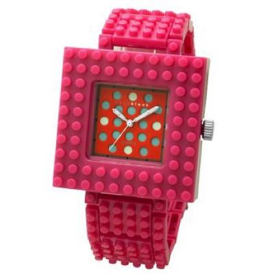 nanoblock ナノブロック Wristwatch 腕時計 Pink×Red ピンク レッド・お取寄