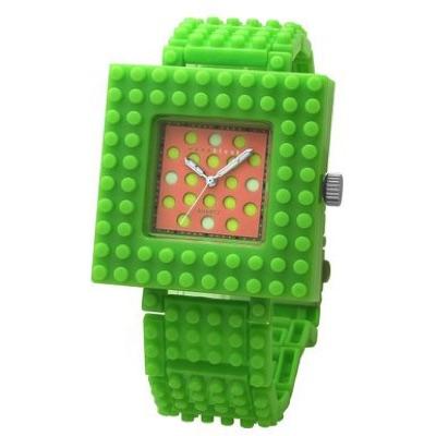 nanoblock ナノブロック Wristwatch 腕時計 Green×Pink グリーン ピンク・お取寄
