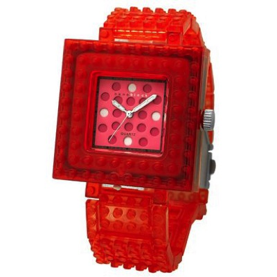 nanoblock ナノブロック Wristwatch 腕時計 Clear Red×Pink クリアレッド ピンク・お取寄