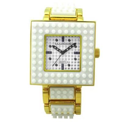 nanoblock ナノブロック Wristwatch 腕時計 White×Gold ホワイト ゴールド NA-2629WHG・お取寄