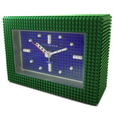 nanoblock ナノブロック Decoration Alarm Clock デコれる目覚まし時計 グリーン ブルー文字盤 NAAC-96902BL・お取寄