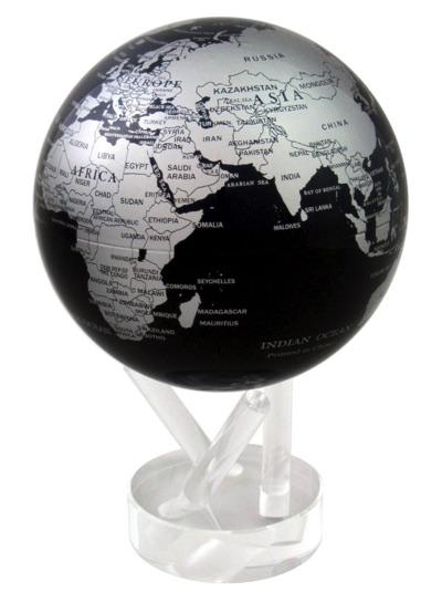 MOVA Globe (ムーバグローブ) 光で回る地球儀 ブラックメタリック・お取寄