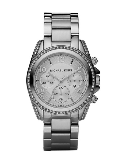 Michael Korsマイケルコース Blairシルバークロノグラフ腕時計MK5165・お取寄