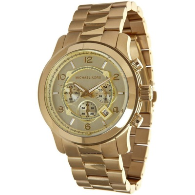 MICHAEL KORSマイケルコース ゴールドトーンRunwayクロノグラフ腕時計 MK8077・お取寄