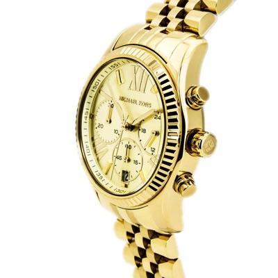 Michael Korsマイケル・コース ゴールドトーン クロノグラフ腕時計MK5556・お取寄