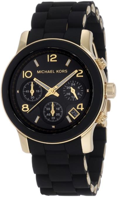 Michael Korsマイケルコース腕時計 ブラックゴールドトーン クロノグラフ MK5191・お取寄