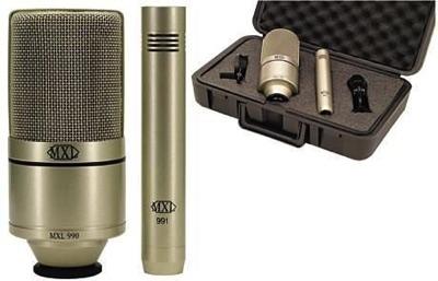 MXL エムエックスエル 990/991 Recording Microphone Package レコーディング マイクセット コンデンサーマイク ボーカル ギター 弾き語り・お取寄