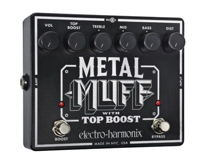 Electro Harmonix エレクトロハーモニクス Metal Muff Distorition with Top Boost Guitar Effects Pedal メタルマフ ディストーションペダル ギター用エフェクター・お取寄