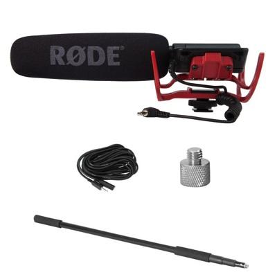 ローデ ビデオマイク R パック、ブーム、アダプタ、ケーブル Rode VIDEOMICR CPK Videomic with Rycote Lyre Mount, Boom Pole, Screw Adapter and Extension Cable・お取寄