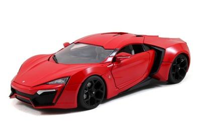 ジェイダ 1/18 スケール ワイルドスピード スカイミッション ライカン ハイパースポーツ Jada 1/18 Scale Fast & Furious 7 Lykan Hypersport Red Diecast Car Model 97388・お取寄