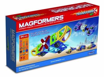 Magformers マグフォーマー TRANSFORM トランスフォームセット 54 ピース 知育玩具 マグネットブロック 63089・お取寄